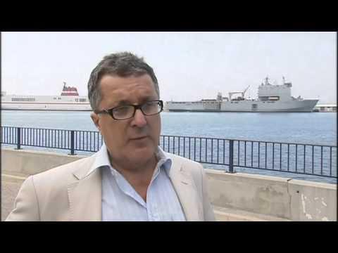 Gibraltar Español Inglaterra desafia y amenaza a España mostrando su poder naval