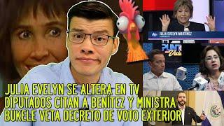 Julia Evelyn llama pend*jo a Benítez   Diputados siguen circo   Bukele veto   - SOY JOSE YOUTUBER