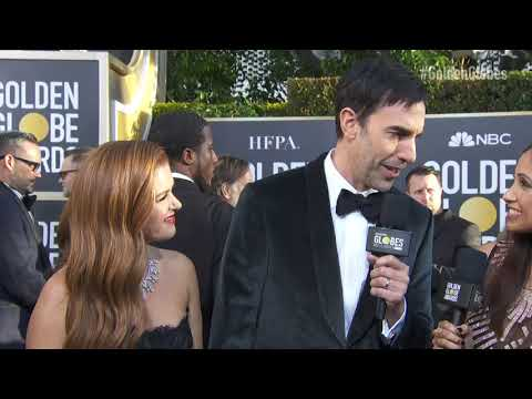 Sacha Baron Cohen And Isla Fisher Red Carpet Interview