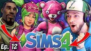 FORTNITE IN THE SIMS?!   The Sims 4: Memes Theme   Ep. 12