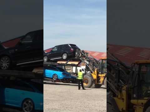 COPART UK,Car auction ,supercar unloading tutorial.Range Rover Sport unloading failer