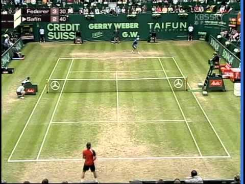 ATP Masters Gerry Weber 2005 Final Federer vs Safin 1.avi