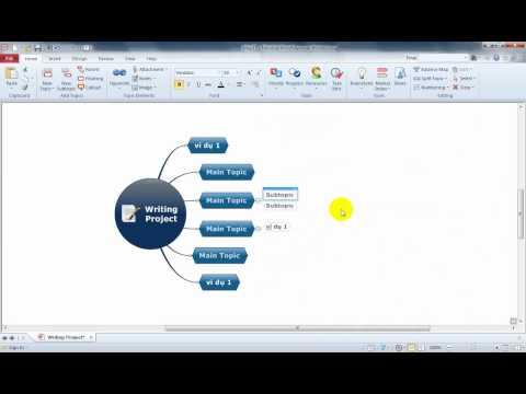Hướng dẫn sử dụng phần mềm vẽ sơ đồ tư duy trong xây dựng