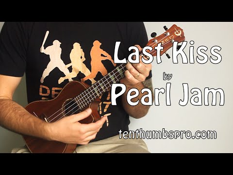 Last Kiss - Pearl Jam - Super Easy Beginner Song Ukulele Tutorial Chords and Lyrics below