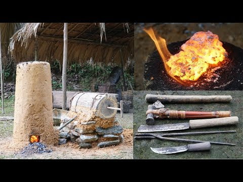Full video! Iron upgrading, forging hammer, daggers, spearheads and tools necessary for survival