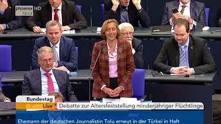 Bundestagsdebatte zur Altersfeststellung minderjähriger Flüchtlinge am 19.01.18