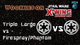 X-Wing Store Championships - Round 3: Phantom/Firespray vs Triple Large w/Commentary!