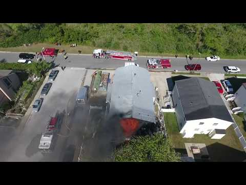 Fire Department Fail? You be the judge. - Explosion & House Fire Caught w/ Drone