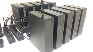 Burstcoin Mining With 50TB of External Hard Drives.