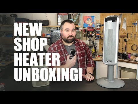 "New Shop Heater! LASKO 29"" Ceramic Pedestal Heater Unboxing & Review"