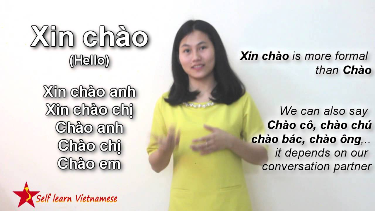 Self learn Vietnamese lesson 1: Learn how to Address people, say Hello,  Sorry, Thank you and Goodbye