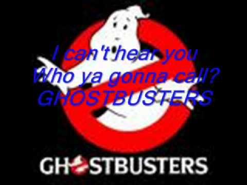 Ghostbusters theme song lyrics  YouTube