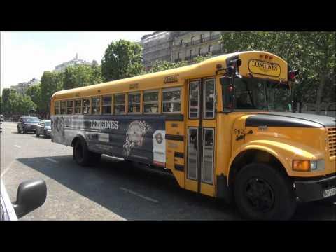 American school bus in Paris