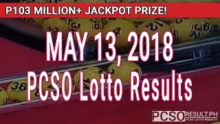 PCSO Lotto Results Today May 13, 2018 (6/58, 6/49, Swertres, STL & EZ2)