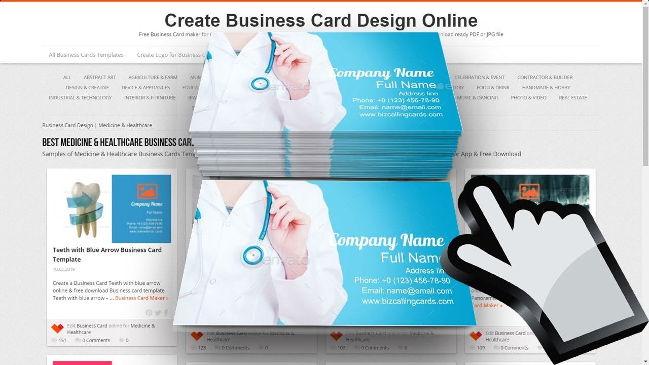 Medicine & Healthcare Business Card Examples