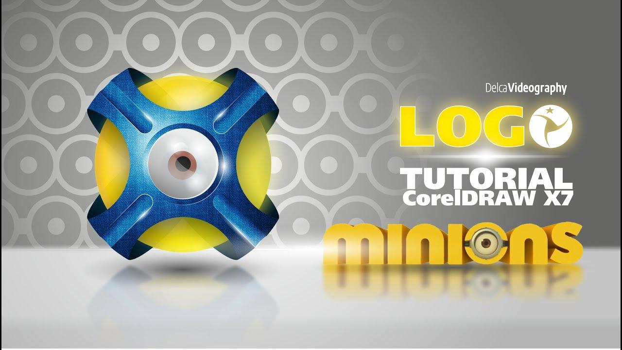 (AVANZADO) TUTORIAL 25 COREL DRAW X6, X7: LOGO 3D MINIONS - YouTube