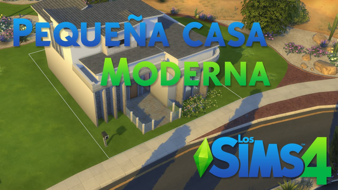 Los sims 4 peque a casa moderna youtube for Casa moderna los sims 3