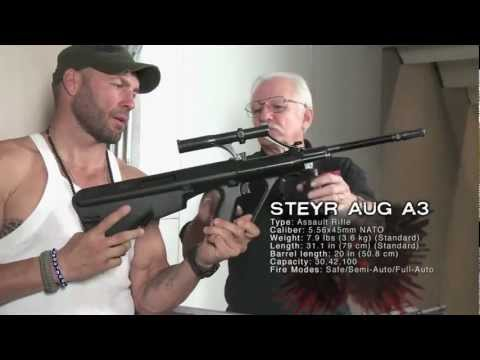 "Movie Guns: ""The Expendables 2"" Star Randy Couture and the Steyr AUG"