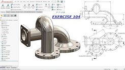 SolidWorks Drawing Tutorial for Beginners exercise 104