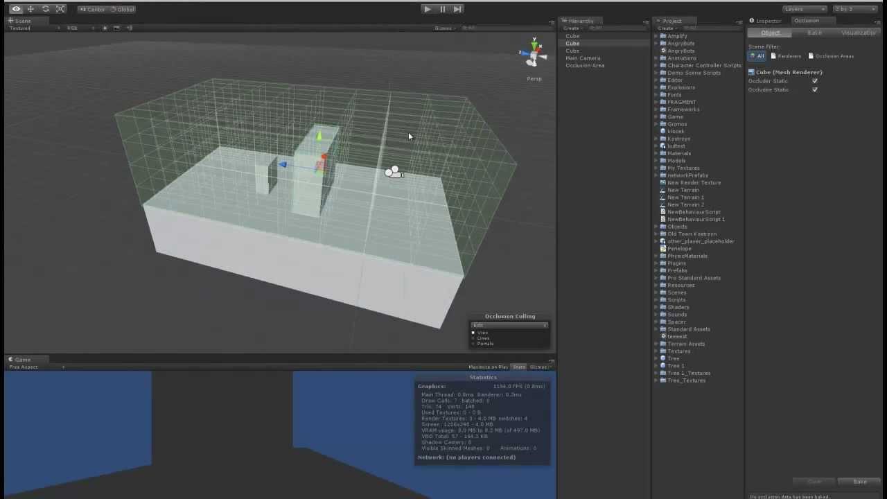 Unity 3D occlusion culling bug