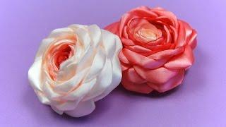 Розы из Лент своими руками / Satin Ribbon Rose Tutorial / ✿ NataliDoma(Мастер-класс: как сделать красивую винтажную розу из атласных лент своими руками. Tutorial: How to make a beautiful vintage..., 2014-06-08T19:16:29.000Z)