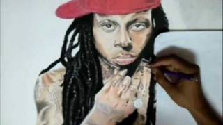 How to draw Lil Wayne: Speed Painting by Romeo