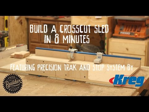 How To Make an Easy Table Saw Cross Cut Sled | 8 Minute Video