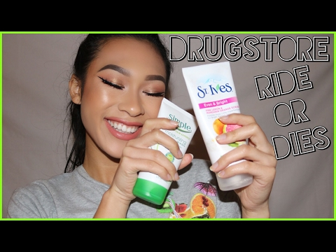 My Ride Or Die Drugstore Products | Skincare & Makeup || ThatsSoYin