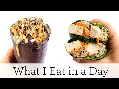 WHAT I EAT IN A DAY (VEGAN) ‣‣ Easy Spring Recipes