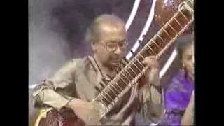 video raag kirwani by pandit nikhil banerjee with pandit anindo chatterjee tabla at eastern eye