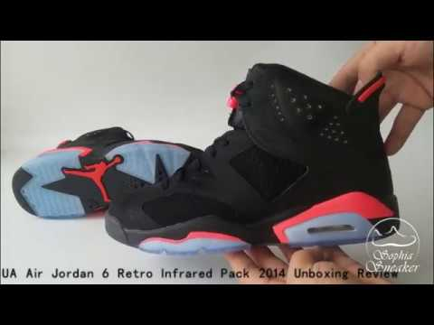 5e132326391305 UA Air Jordan 6 Retro Infrared Pack 2014 Unboxing Review - YouTube