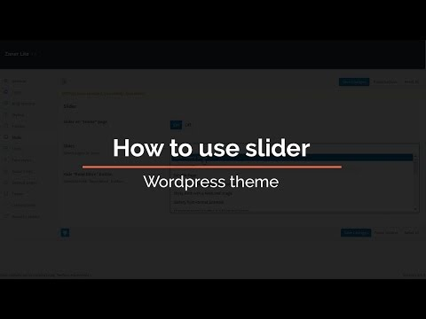 How To Use Slider In Wordpress Theme