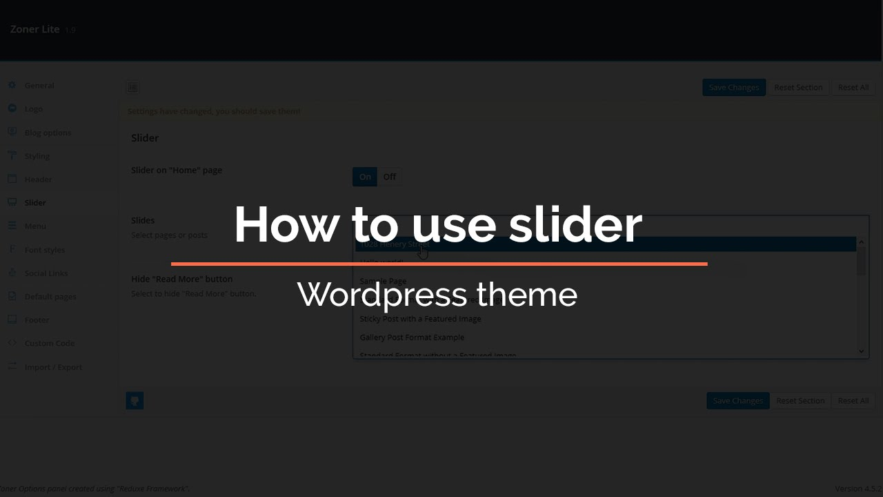 How to use slider in WordPress theme - YouTube
