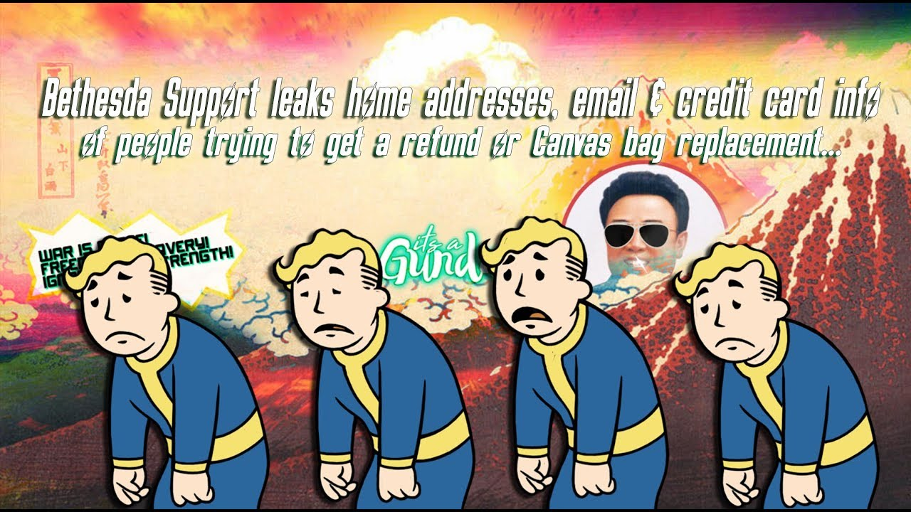 Bethesda Support leaks home addresses, email & credit card info of Users