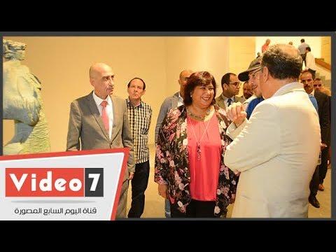 وزيرة الثقافة تفتتح صالون النحت الدولى بدورته الثانية بقصر الفنون فى الأوبرا  - نشر قبل 13 ساعة