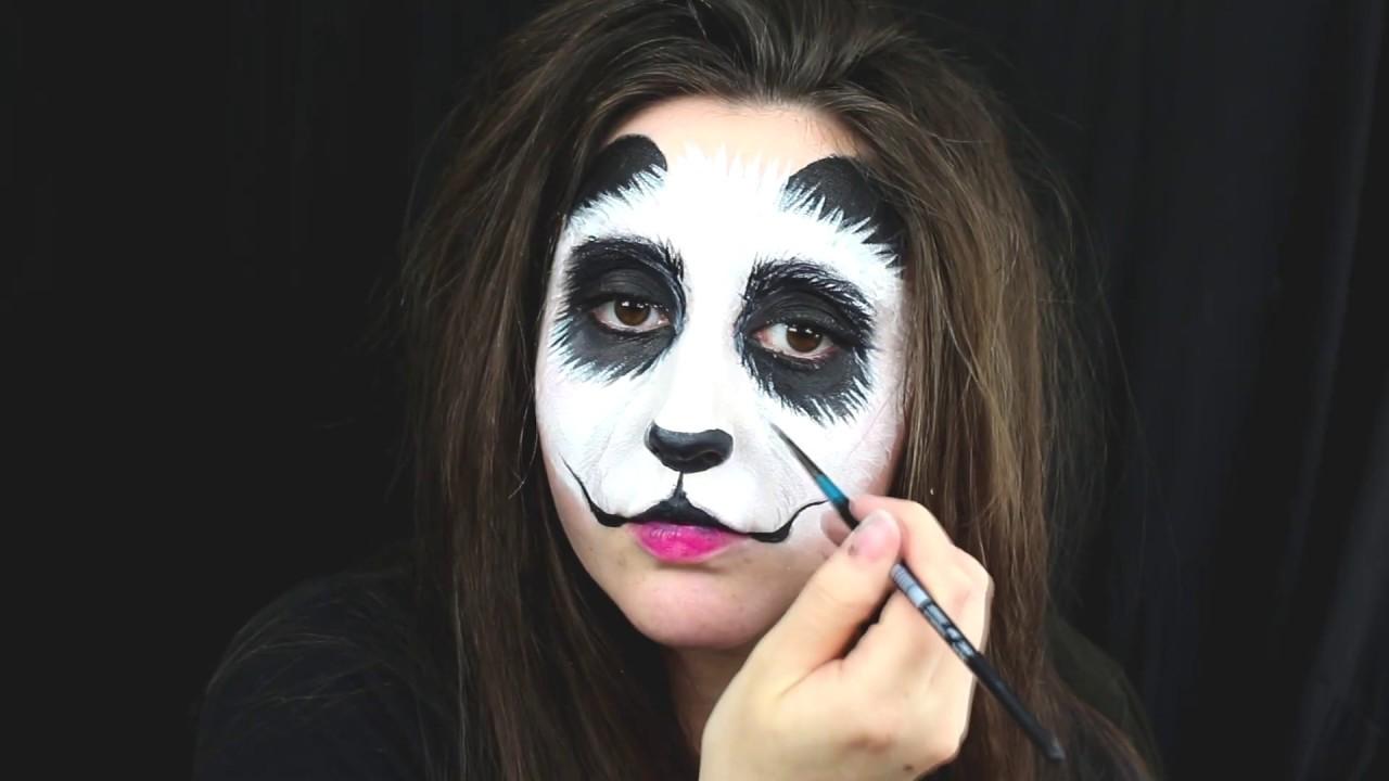 Panda Face Painting Tutorial Panda Makeup Youtube