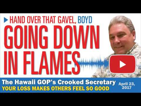 Oahu GOP County Committee Replaces Boyd Ready with Brett Kulbis on 4-22-17