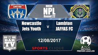 Newcastle Jets Yo. vs Lambton Jaffas FC full match