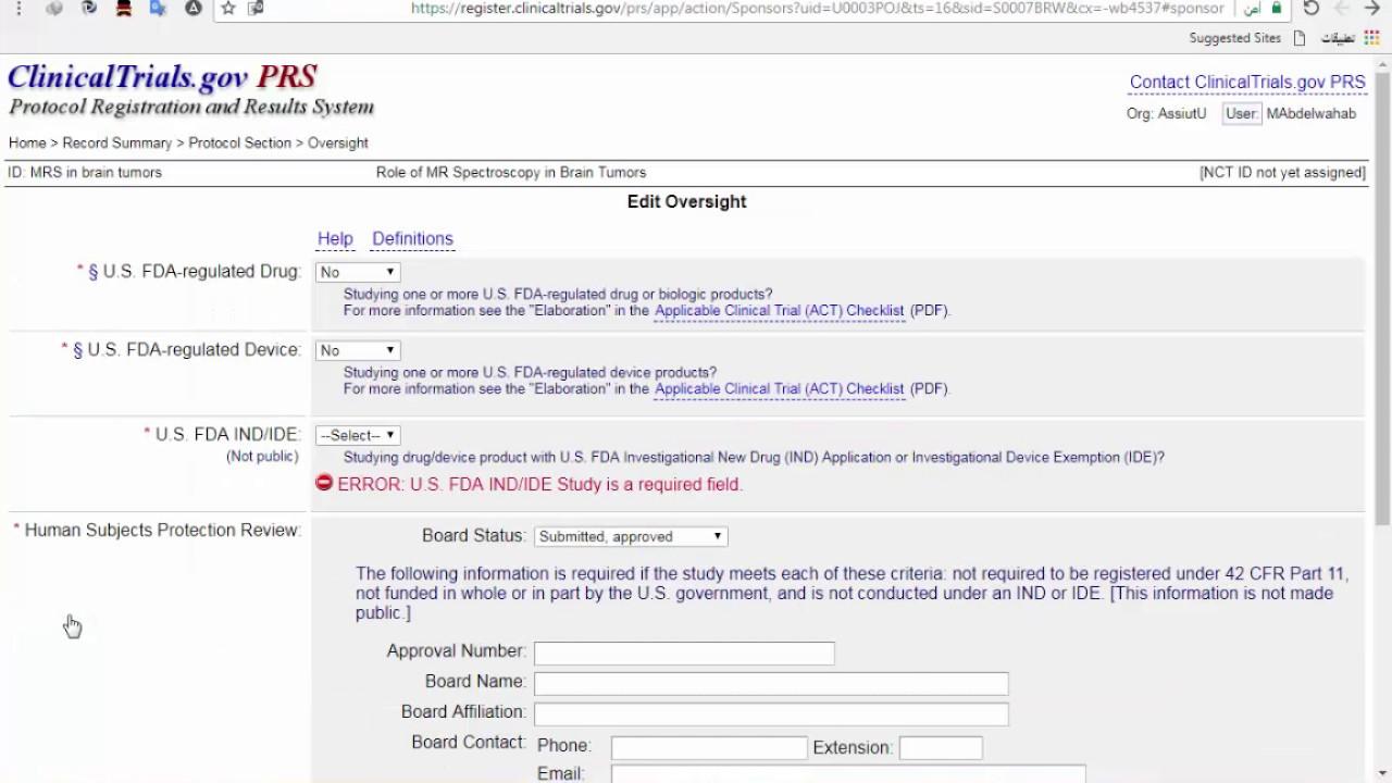 2- Clinicaltrials gov: register your study