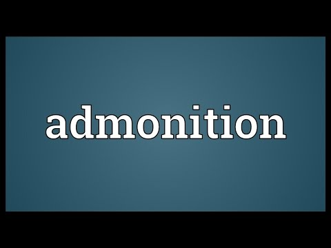 Admonition Meaning