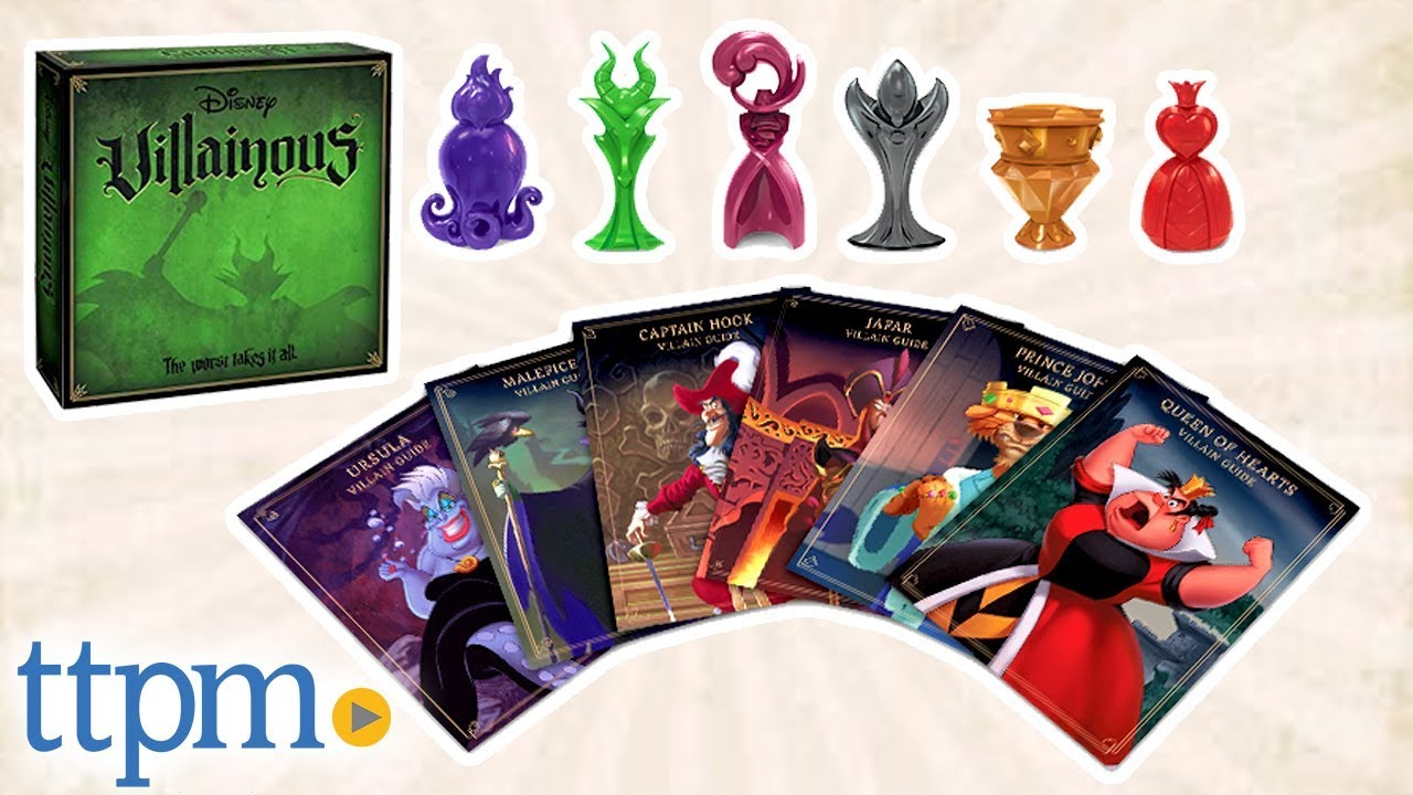 Disney Villainous Board Game Review Wonder Forge Youtube