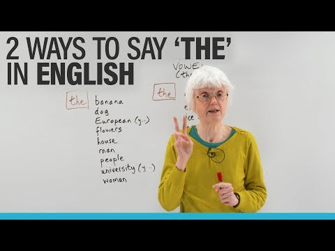 """Learn English: The 2 ways to pronounce """"THE"""" · engVid"""