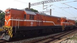 7201次貨物列車與3162次區間車在大林車站交會