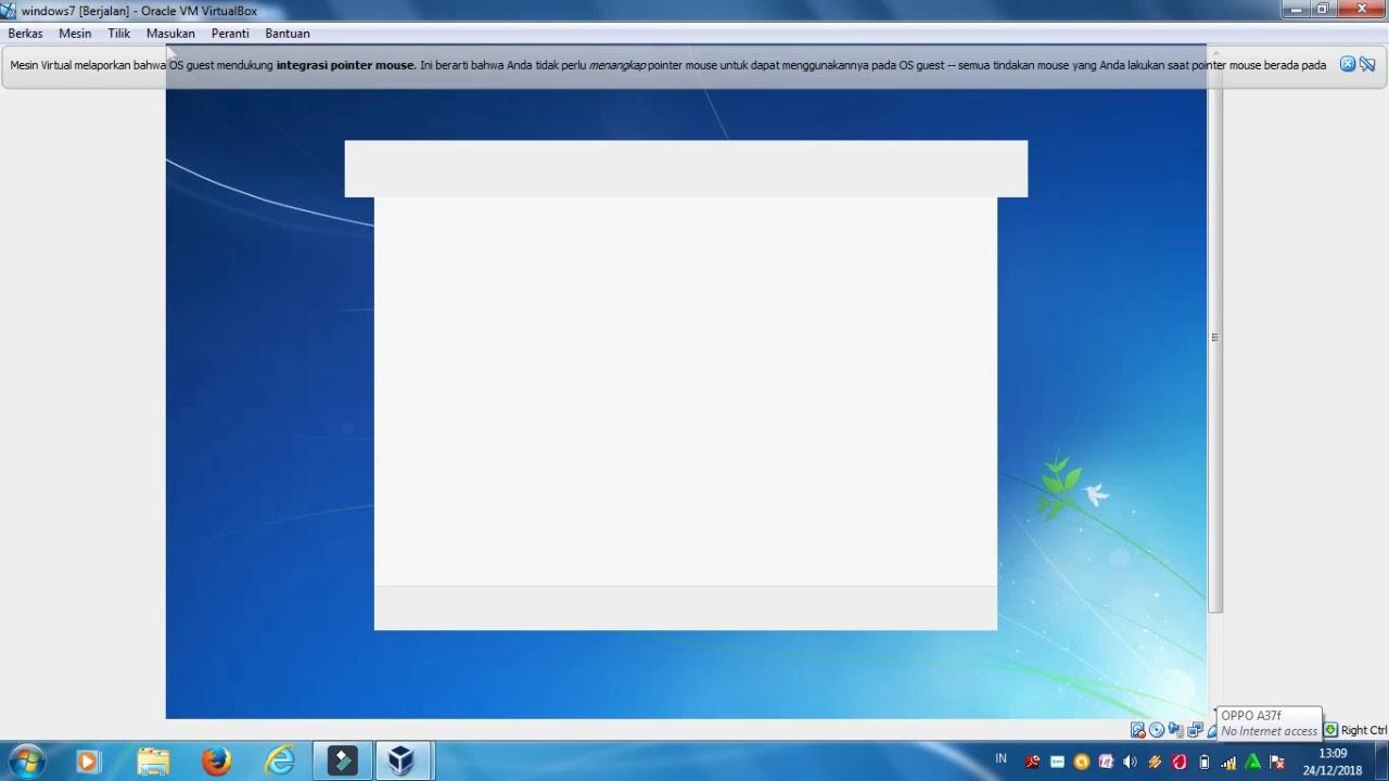 cara menginstal windows 7 di virtualbox