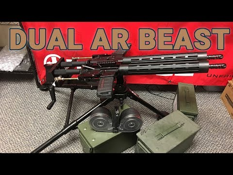 Freedom Defense Tactical's crank operated dual AR is a beast!