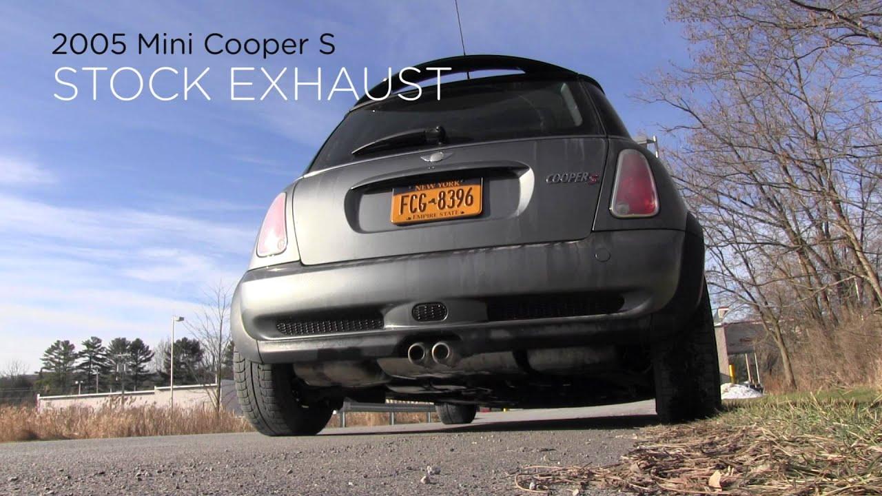 mini cooper s stock exhaust vs one ball mod comparison