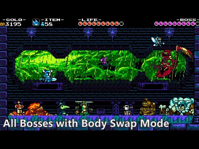 Shovel Knight: Shovel of Hope - All Bosses with Body Swap Mode - Gameplay