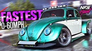 Need for Speed Heat - QUICKEST & Most BROKEN Car?! (Fastest Acceleration)