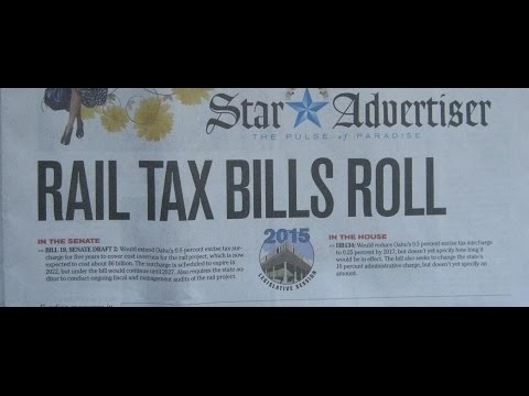 HAWAII STATE LEGISLATURE SB19 HB134 HONOLULU RAIL BROKEN TREATY BILLS 2015