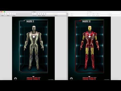Iron Man Mark 2 & 3 Pepakura Files (Foam)